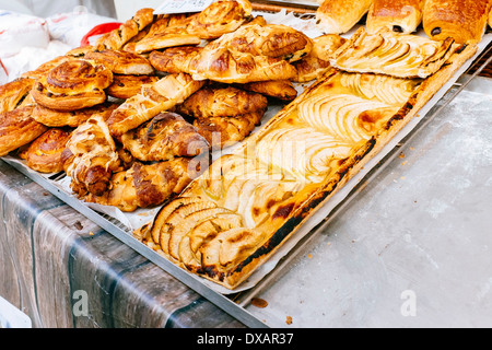 Sélection de produits de pain artisanal Banque D'Images
