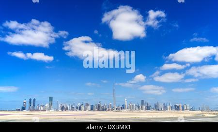 Toits de Dubaï du désert en Emirats Arabes Unis Banque D'Images