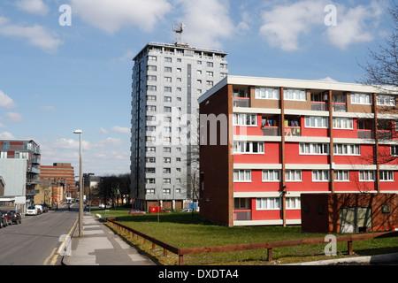 Des tours d'immeuble et appartements à Sheffield Banque D'Images