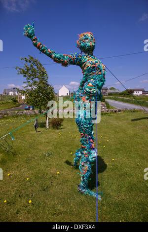 Dans l'oeuvre de corde ardminish sur l'île de Gigha argyll Banque D'Images