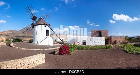 Musée du Moulin, Centro de Interpretacion de los Molinos, Tiscamanita, Fuerteventura, Îles Canaries, Espagne Banque D'Images
