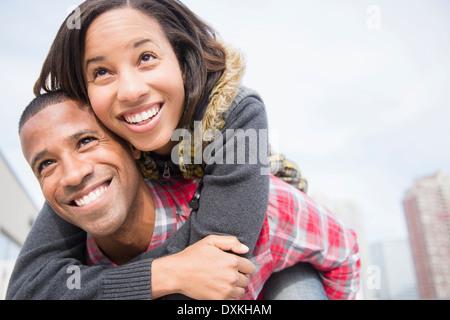 Usurpation de l'heureux couple Banque D'Images