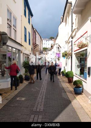 Rue étroite, Dartmouth, Devon, UK Banque D'Images