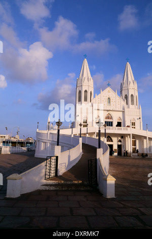 Culte basilique notre dame de la santé Vailankanni, district de Nagapattinam, Tamil Nadu, Inde