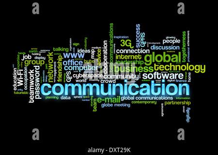 Concept de communication libre nuage de mots Banque D'Images
