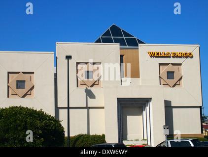 La Wells Fargo Bank succursale à San Francisco, Californie, USA, Banque D'Images