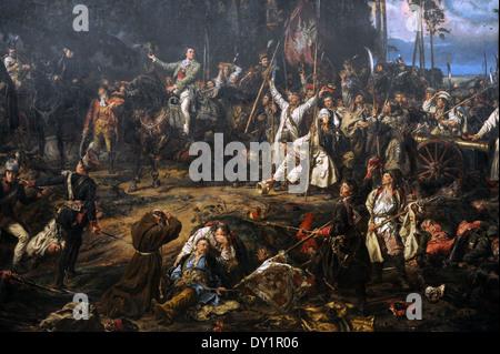 Jan Matejko (1838-1893). Peintre polonais. Abaddon dans la bataille de Raclawice, 1888. Musée National de Cracovie. Banque D'Images
