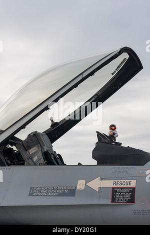 Belge Air Force Lockheed Martin F-16AM/BM poste de pilotage multirôle de chasseur