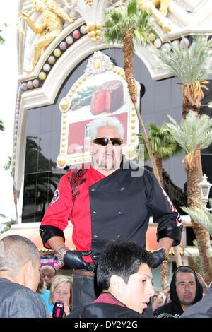 Las Vegas, NV, USA, le 4 avril 2014: Guy Fieri, célèbre chef restaurateur, auteur et animateur de télévision primés Banque D'Images