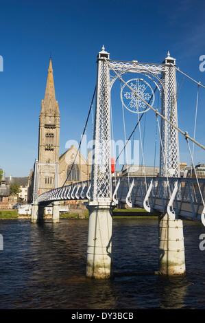 Greig Street passerelle sur la rivière Ness à Inverness, en Écosse. Banque D'Images