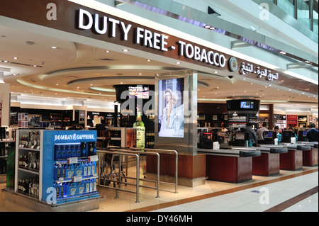Duty Free Shop de l'aéroport de Dubaï Banque D'Images
