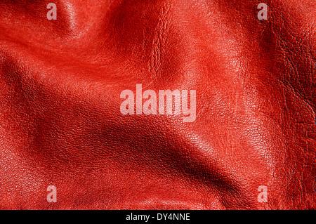 Contexte faite d'un gros plan du cuir marron froissé Banque D'Images