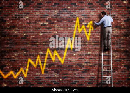 La réussite de l'entreprise Banque D'Images