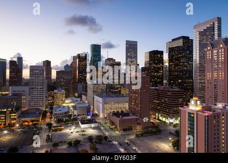 Le centre-ville de ville, Houston, Texas, États-Unis d'Amérique, Amérique du Nord