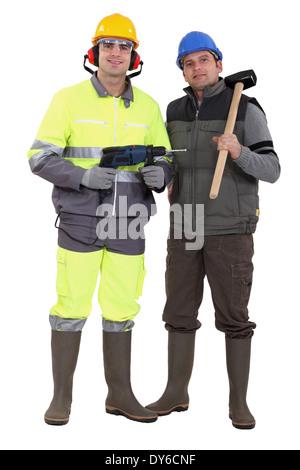 Deux travailleurs Banque D'Images