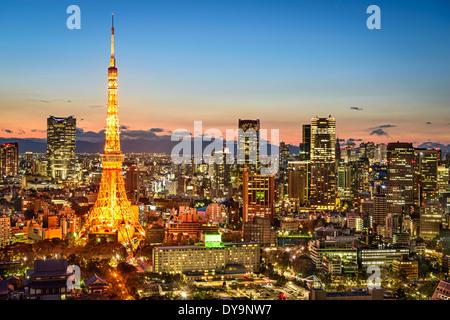 Tokyo, Japon City Skyline Banque D'Images