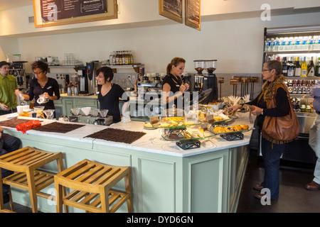 Floride, FL, South, Winter Park, South Park Avenue, Barnie's Coffee Kitchen, café, restaurant restaurants repas Banque D'Images