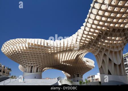 Metropol parasol sur la Plaza de la Encarnación à Séville. Banque D'Images