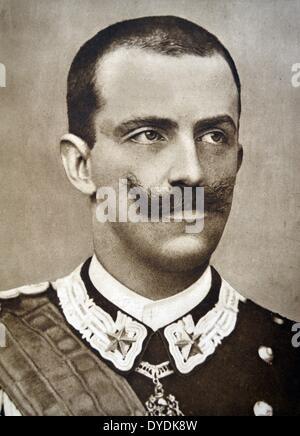 Victor Emmanuel III (1869 - 1947) Roi de France (29 juillet 1900 - 9 mai 1946). Banque D'Images