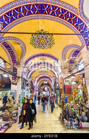 La partie ancienne du Grand Bazar (Kapaliçarsi), Istanbul, Turquie Banque D'Images