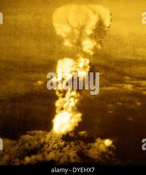 La Seconde Guerre mondiale - bombe atomique d'Hiroshima, août 1945. Les bombardements atomiques des villes de Hiroshima Banque D'Images