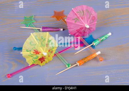 Un assortiment de différents éléments pour décorer les cocktails Banque D'Images