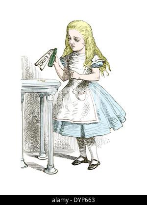 John Tenniel (1820-1914) illustration de 'Alice au pays des merveilles de Lewis Carroll d'abord publié en 1865. Banque D'Images