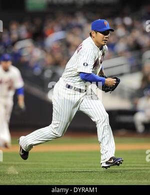 Flushing, NY, USA. Apr 19, 2014. Daisuke Matsuzaka (Mets) MLB: Daisuke Matsuzaka les Mets de New York en ligue Banque D'Images