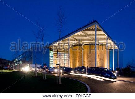 Académie de Folkestone dans le Kent conçu par des architectes de renommée mondiale Foster and Partners et Buro Happold, Banque D'Images