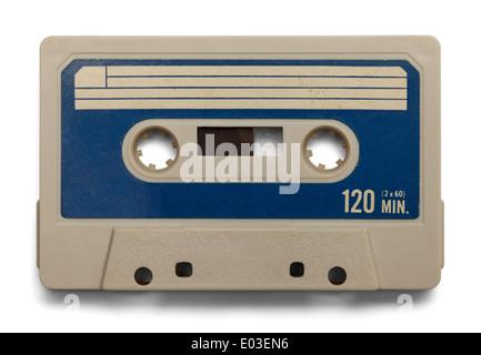 Vieille Cassette avec copie espace isolé sur fond blanc. Banque D'Images