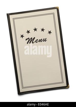 Restaurant Menu générique vierge Avec copie espace isolé sur fond blanc. Banque D'Images