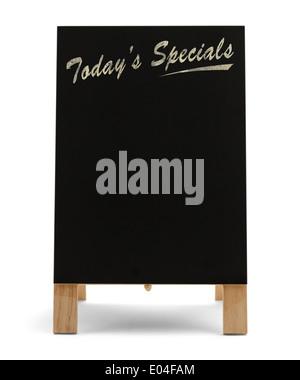 Restaurant Menu alimentaire Craie noire carte avec spécialités du jour isolé sur fond blanc. Banque D'Images
