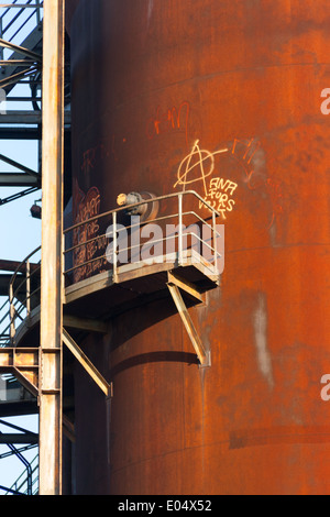 Fours industriels désaffectés à l'aciérie de Phoenix West, qui faisait autrefois partie de ThyssenKrupp Steel à Banque D'Images