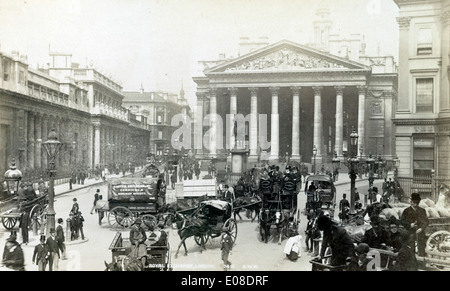 Royal Exchange, Londres, Angleterre, Royaume-Uni. circa 1890 Banque D'Images