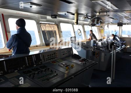 Sur le pont de l'équipage de l'Akademik sergey vavilov navire de recherche russe dans l'antarctique Banque D'Images