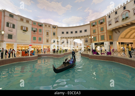 Doha. Le Qatar. Villaggio shopping mall. Banque D'Images