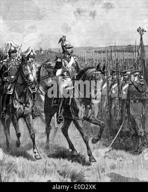 Le tsar Nicholas I ou Nikolaï Pavlovitch; 1796-1855, je l'empereur de Russie, l'examen de son armée à Sébastopol, Banque D'Images