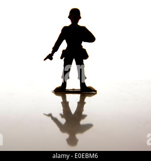 Toy Soldier silhouette Banque D'Images