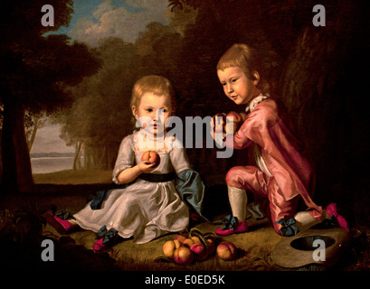 Les enfants Stewart 1773-74 Charles Willson Peale 1741-1827 American United States of America USA Banque D'Images