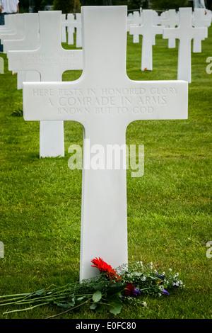 Cimetière américain et Mémorial, Colleville-sur-Mer, France Banque D'Images