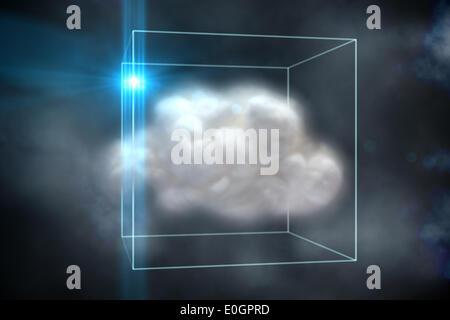 Le concept de cloud computing à la case Banque D'Images