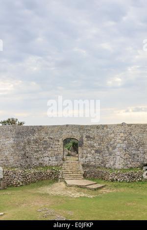 Nakagusuku Castle Ruins à Okinawa, Japon Banque D'Images