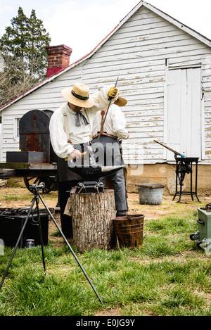 Le forgeron de village, guerre civile, Fairfax jour historique, Blenheim, Lee 3610 Autoroute, Fairfax, Virginie Banque D'Images