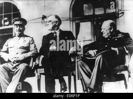 Conférence de Téhéran de 1942 Banque D'Images
