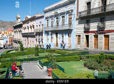Plaza de La Paz centre historique de Guanajuato au Mexique Banque D'Images