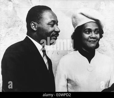 Martin Luther King, Jr. avec femme Coretta Scott King