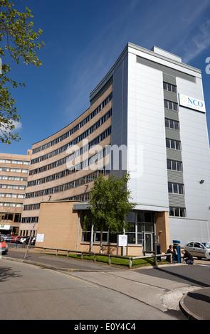 Centre d'appels de sous-officier à new city house 1970 Immeuble de bureaux Preston England UK Banque D'Images