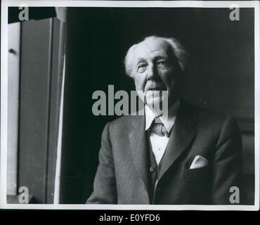1 janvier, 1970 - Frank Lloyd Wright. Banque D'Images