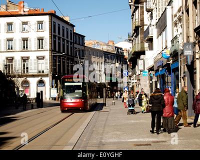 Tramway de Clermont-Ferrand, Auvergne, France Banque D'Images