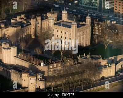 Royaume-uni, Angleterre, Londres, Tour de Londres aerial Banque D'Images